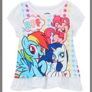 •My Little Pony 'BFF' Ruffle Tee